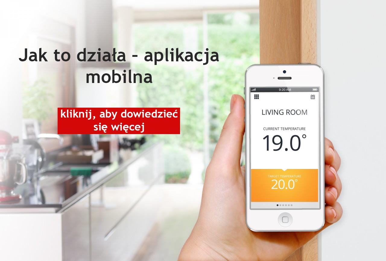 Mobilna aplikacja do sterowania nagrzewnicami gazowymi powietrza z zamkniętą komorą spalania.