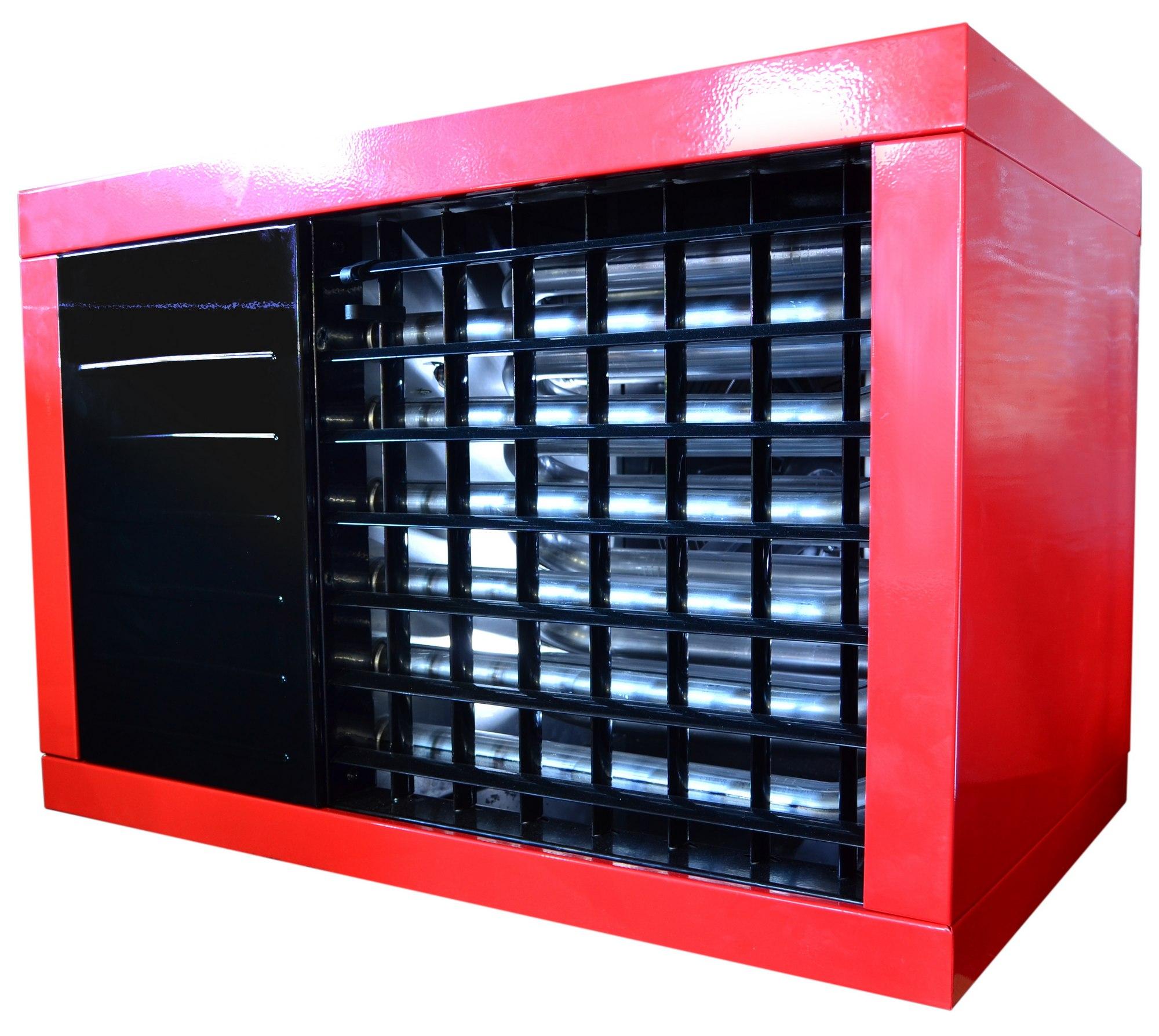 nagrzewnica gazowa powietrza 26 kW z odprowadzeniem spalin i z zamkniętą komorą spalania